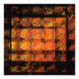 The Wall Abstract Art 5.25x5.25 Square Paper Invitation Card