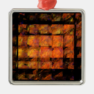 The Wall Abstract Art Square Christmas Ornament