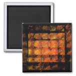 The Wall Abstract Art Square Magnet