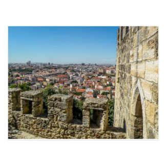 The Wall of Sao Jorge Castle, Portugal - Postcard