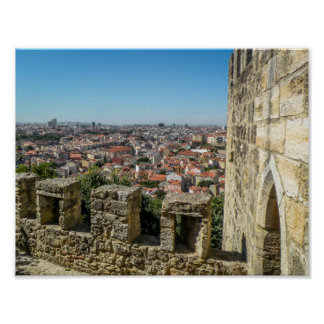 The Wall of Sao Jorge Castle, Portugal - Poster