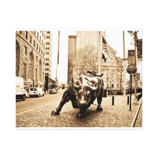 """The Wall Street Bull"" Canvas Print"
