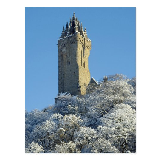 The Wallace Monument Stirling Scotland in winter Postcard
