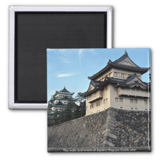 The walls and towers of Japan s Nagoya Castle stan Refrigerator Magnets