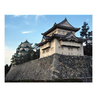 The walls and towers of Japan's Nagoya Castle stan 21.5 Cm X 28 Cm Flyer