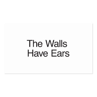 The Walls Have Ears Business Card Template