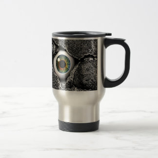 the walls have eyes #2 15 oz stainless steel travel mug