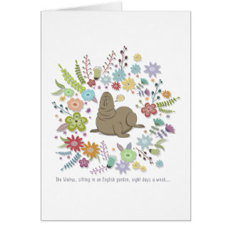 The walrus, sitting in an English whisks Card