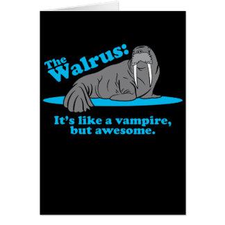 The Walrus Vampire Card