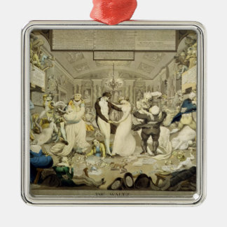The Waltz (coloured engraving) Christmas Ornament