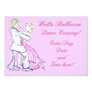 The Waltz Dancers Graphic design 13 Cm X 18 Cm Invitation Card