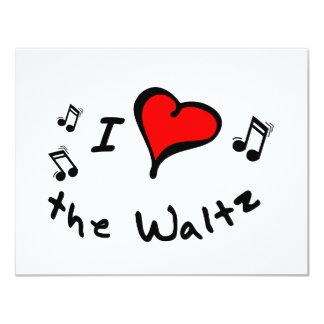 the Waltz I Heart-Love Gift 11 Cm X 14 Cm Invitation Card