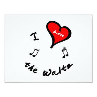 the Waltz Items - I Heart the Waltz 11 Cm X 14 Cm Invitation Card