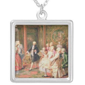The Waltz Square Pendant Necklace