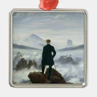 The Wanderer above the Sea of Fog, 1818 Christmas Ornament