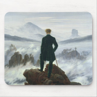 The Wanderer above the Sea of Fog, 1818 Mouse Mat