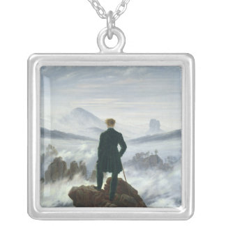 The Wanderer above the Sea of Fog, 1818 Silver Plated Necklace