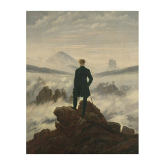 The Wanderer above the Sea of Fog, 1818 Wood Canvas