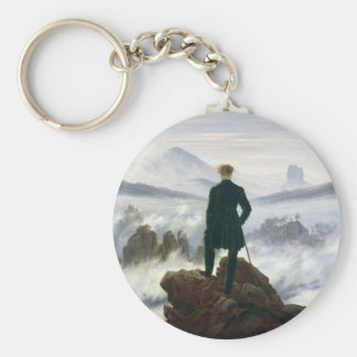 The Wanderer above the Sea of Fog Basic Round Button Key Ring