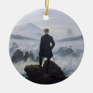 The wanderer above the sea of fog christmas ornament