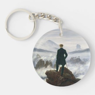 The Wanderer above the Sea of Fog Double-Sided Round Acrylic Key Ring