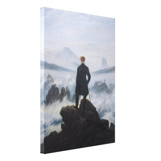 The wanderer above the sea of fog stretched canvas print