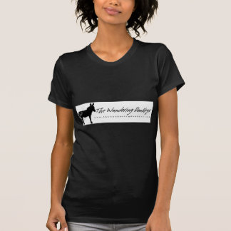 The Wandering Donkeys Black Logo Ladies T Shirt