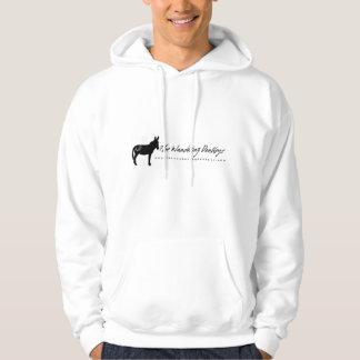 The Wandering Donkeys White Logo Adult Hoodie L