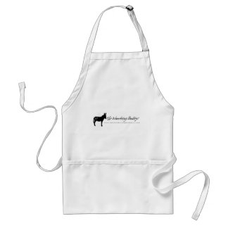 The Wandering Donkeys White Logo Apron