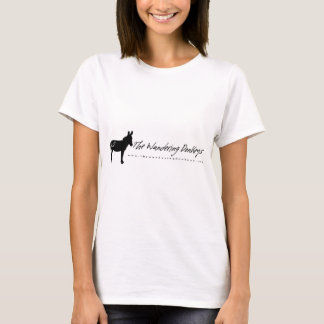 The Wandering Donkeys White Logo Ladies T Shirt