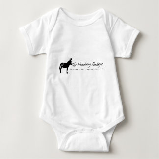 The Wandering Donkeys White Logo Ladies T Shirt L