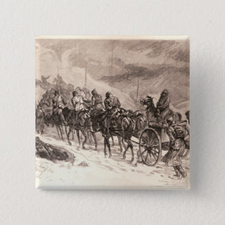 The War Between Servia and Bulgaria 15 Cm Square Badge