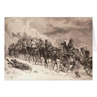 The War Between Servia and Bulgaria Card