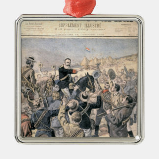 The War in the Transvaal Silver-Colored Square Decoration