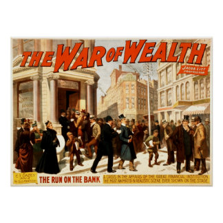 The War of Wealth Vintage 1895 Theater Poster