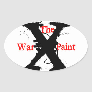 """The War Paint"" Oval Stickers"