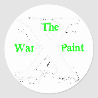 """The War Paint"" White ""X"" Logo Sticker"