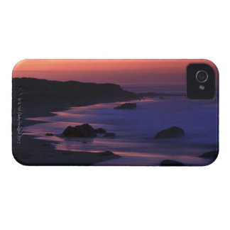 The warm hues of dawn reflect along the iPhone 4 case