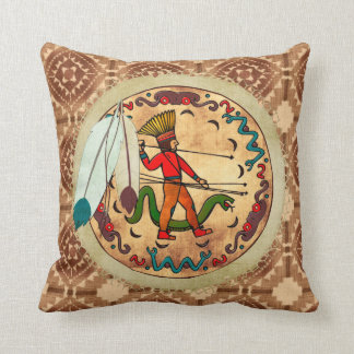 The Warrior Native American Folk Art Cushions