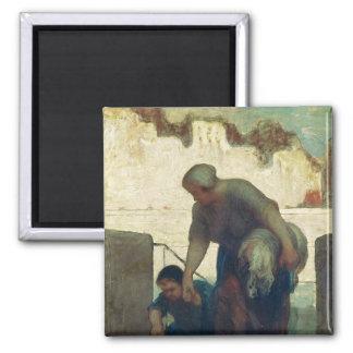 The Washerwoman, c.1860-61 Magnet