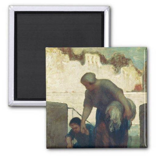 The Washerwoman, c.1860-61 Magnets