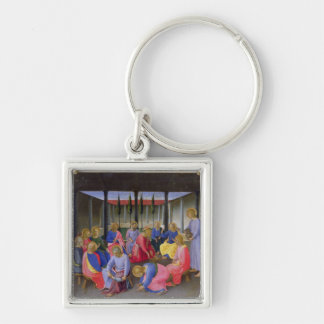 The Washing of the Feet, detail from panel three o Silver-Colored Square Key Ring