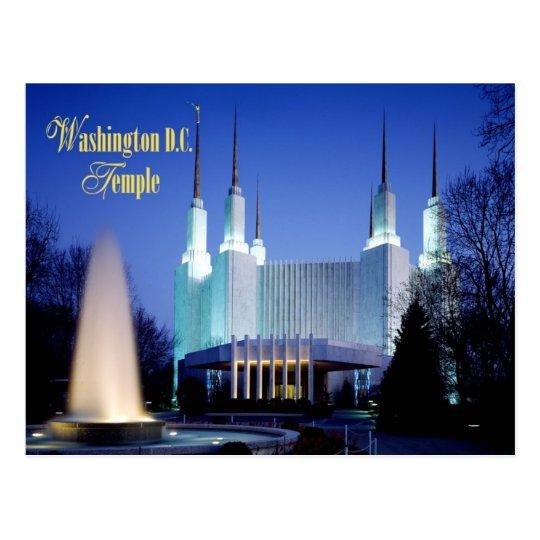 The Washington D.C. Temple in Kensington, Maryland Postcard