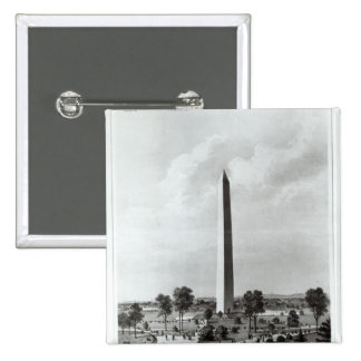 The Washington Monument and Surroundings 15 Cm Square Badge