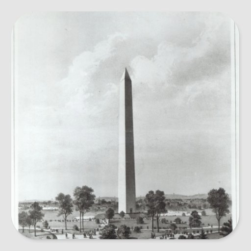 The Washington Monument and Surroundings Square Sticker