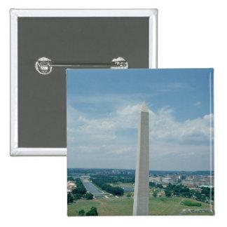 The Washington Monument, built 1848-85 15 Cm Square Badge