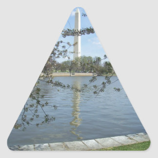 The Washington Monument in Spring Triangle Sticker