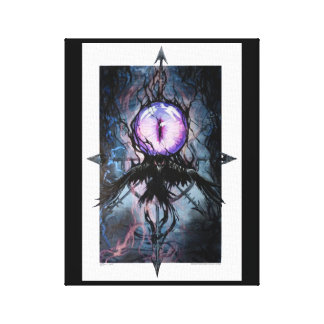 The Watchful Raven Canvas Print