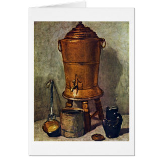 The Water By Jean-Baptiste Simeon Chardin Greeting Card