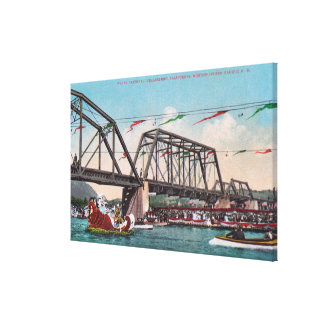 The Water Carnival and Northwestern Pacific RR Canvas Print